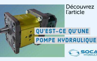 Qu'est-ce qu'une pompe hydraulique ? – Définition