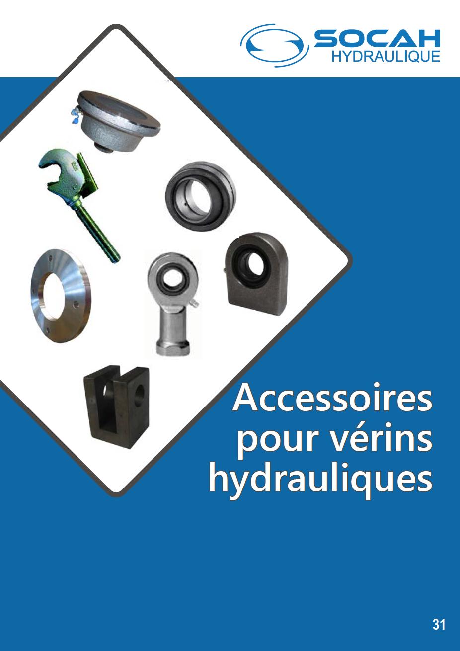 Fiche technique accessoires pour vérins hydrauliques
