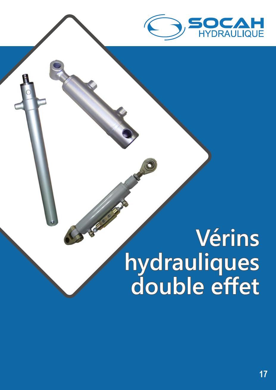 Fiche technique vérins hydrauliques double effet