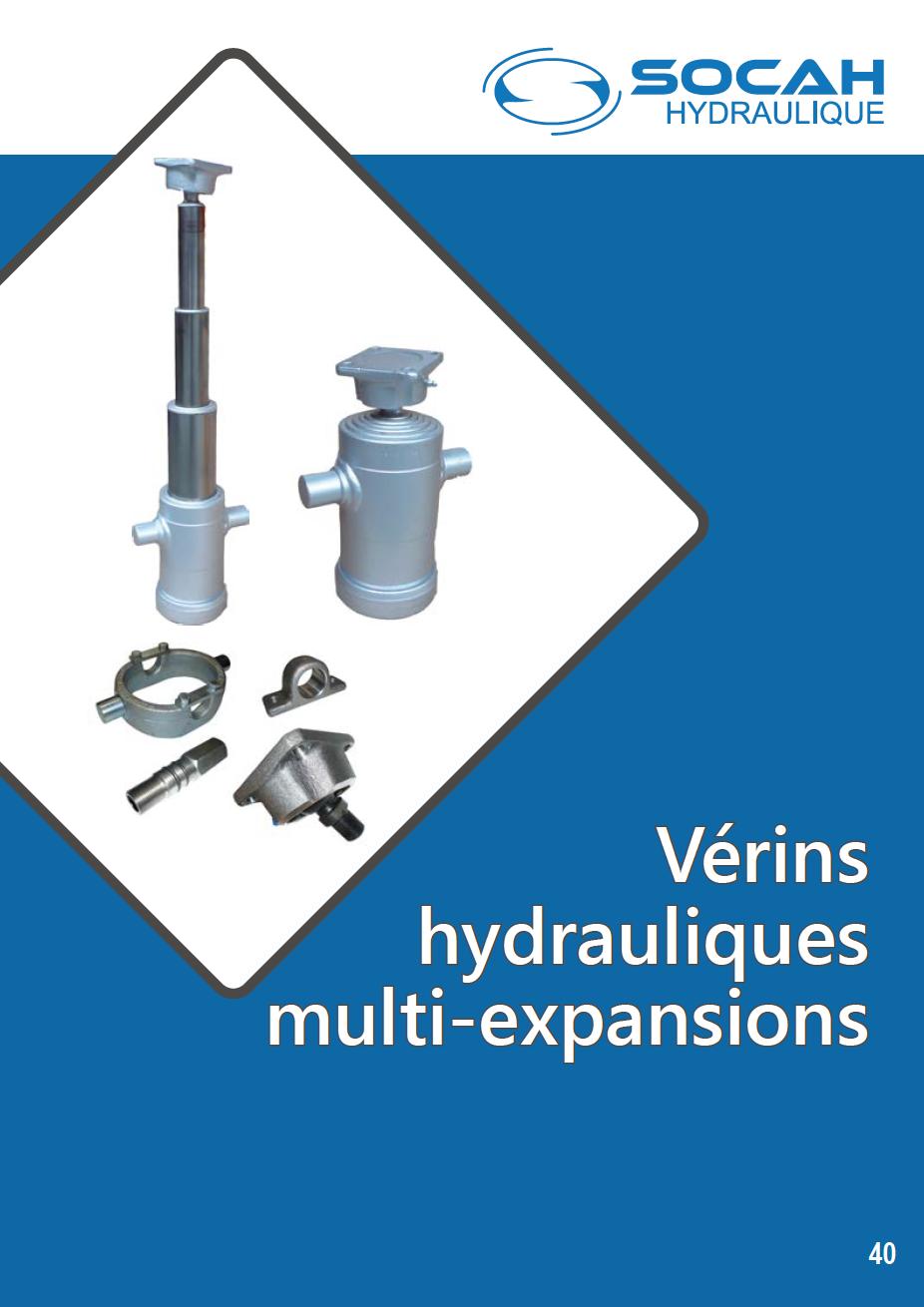 Fiche technique vérins hydrauliques multi-expansions